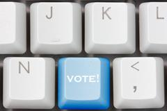 Stock Photo of keyboard with  with vote key