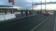 Motorsports, drag race, nostalgia funny car burnouts corvette. Stock Footage
