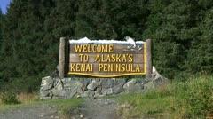 Kenai Peninsula sign Stock Footage
