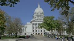 State Capitol Madison, Wisconsin Stock Footage
