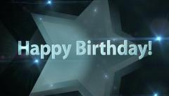 A Silver Star Happy Birthday Stock Footage