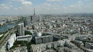 Aerial view over paris Stock Footage