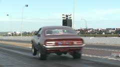 Motorsports, drag race 1971 ford maverick launch Stock Footage