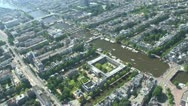 Stock Video Footage of Aereal shots from a helicopter Amsterdam Centre The Netherlands