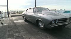 Motorsports, drag race Chevelle SS burnout Stock Footage