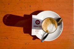 Caffee cortado in Barcelona. Spain. - stock photo