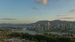 Timelapse Vancouver Skyline Stock Footage