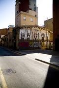 Graffiti in Barcelona. Spain. Stock Photos