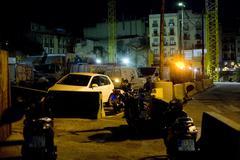 car parking in Barcelona. Spain. - stock photo