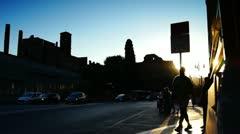 Rome rush-hour traffic Roman Forum - stock footage