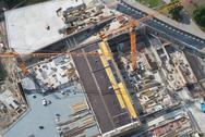Stock Photo of aerial view of a construction site