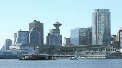 Fueling station Vancouver Harbor Stock Footage