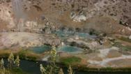 Hot Springs 07 Deers Hot Creek Geothermal Area Stock Footage