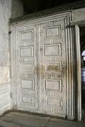 marble door at aya sofia in istanbul, turkey - stock photo
