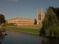 Cambridge Punting Stock Footage