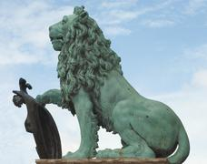 Stock Photo of lion statue