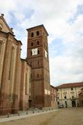 medieval cathedral of asti - stock photo