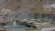 Hot Springs 10 Hot Creek Geothermal Area Stock Footage