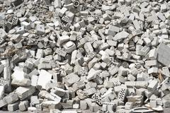 rubble of masonry - stock photo