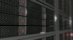 Stock Video Footage of advanced server computer servers hosting host internet
