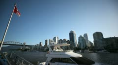 Boat at Granville Island - stock footage