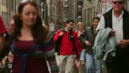 Stock Video Footage of Edinburgh Busy Royal Mile Shot