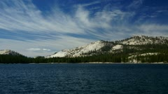 Tenaya Lake #2, Yosemite, time-lapse - stock footage