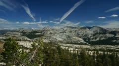 Panoramic view of Sierra-Nevada, Yosemite, time-lapse Stock Footage