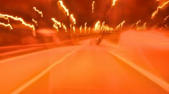 Night Ride Stock Footage