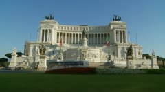 National Monument to Victor Emmanuel in Rome timelapse & slow motion mix Stock Footage