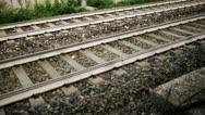 Train tracks Stock Footage