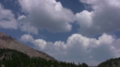 Lassen 49 Lassen Peak Clouds Stock Footage