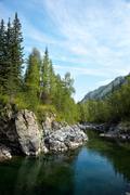 Altai river kumir Stock Photos