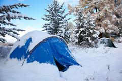 Altai under snow Stock Photos