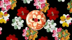 RETRO Buttons fabric Stop-motion background Stock Footage