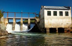 Chemal hydroelectric power plant Stock Photos