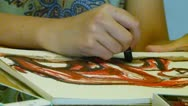 Stock Video Footage of Crayon drawing by a young girl