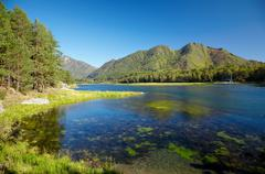 Altai chemal reservoir Stock Photos