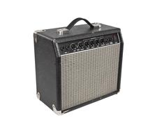 Vintage practice amp with clipping path Stock Photos