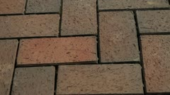 Close up Dolly of Interlocking Stone Driveway Stock Footage