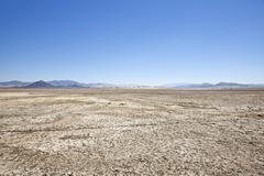 Zzyzx dry lake mojave desert Stock Photos