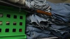 Jeans closet Stock Footage