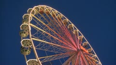 Ferry Wheel Detail Stock Footage