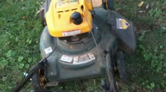 mowing lawn mow mower pov - stock footage
