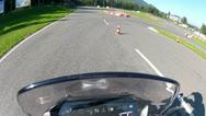 Motorcycle Racing Braking Maneuver 1 Stock Footage