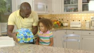 African American family  having birthday celebration Stock Footage