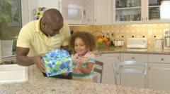 African American family  having birthday celebration - stock footage