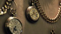 Old Clocks Stock Footage