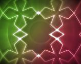 Stock Illustration of Symmetrical pattern pink and green