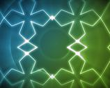 Stock Illustration of Symmetrical pattern blue and green